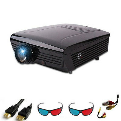 HD LED Projector Home Cinema Theater Supports 3D and 2D HDMI Tv Usb Pc Vga 1080p