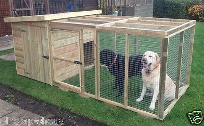 Pent Pet/dog  Kennel Plus Front Run Tanalised Wooden Kennel