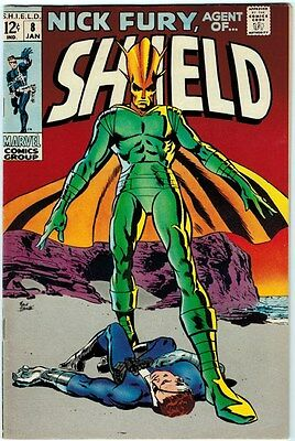 Nick Fury Agent Of Shield #8 7.0 Off-White To Creme Pages Silver Age