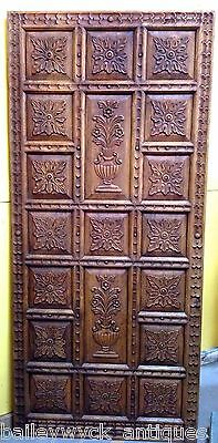 Hand-Carved Paneled Hardwood Door/Tabletop from India