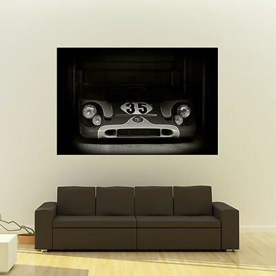 Poster of Porsche 917 Le Mans Giant B&W Vintage Race Car Huge Print 54x36 Inches