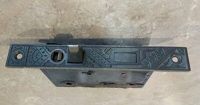 Victorian Antique Branford Oriental Bamboo Bronze Entry Door Mortise Lock latch