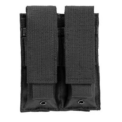 NcSTAR Black Double MOLLE PALS Pistol Magazine Pouch Holster for Tactical Vests