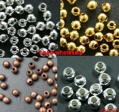 Wholesale 500pcs/3000pcs Metal Ball Findings Spacer Beads Craft 2.5mm DIY Craft
