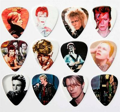 David Bowie Guitar Picks - Packet of 12 Different Plectrums