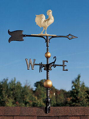 Rooty the Rooster Chicken Weathervane 2.5 ft tall with ROOFTOP MOUNT - wind vane