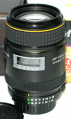 TOKINA M100AF AT-X 100mm f2.8 MACRO FOR NIKON SEE LISTING INFORMATION & PHOTOS