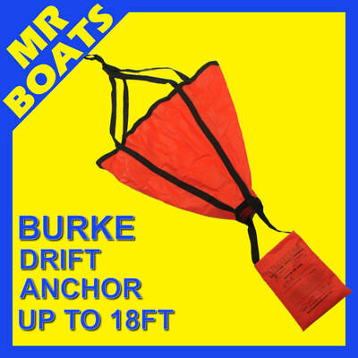 BURKE SEA ANCHOR Drifting MEDIUM Suits up to a 18ft Boat -QUICK DRY-FREE POSTAGE