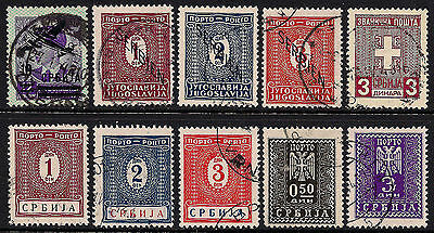 OPC German Occupied Serbia Air Post, Postage Dues Official Lot Used 9166