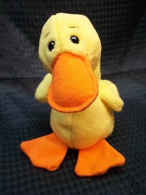 "TY Beanie Babies  6"" Yellow Duck ** QUACKERS **"