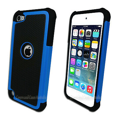 NEW Blue Black Tough Impact Case for Apple iPod Touch 5 5th Gen Heavy Duty Cover