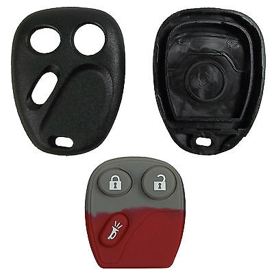 New Remote Keyless Key Fob Replacement Case Button Pad For Gm Truck Suv
