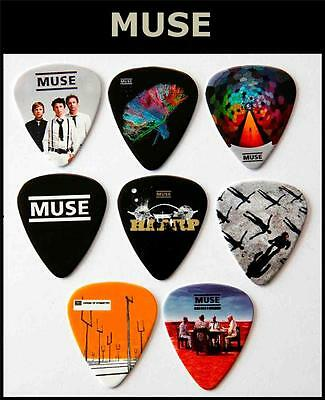 MUSE  Packet of 8 Full Colour Guitar Picks