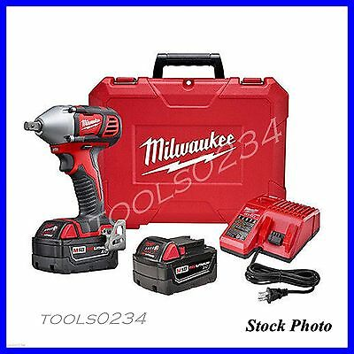Milwaukee 2659-22 M18 18V Cordless Lithium-Ion 1/2 in. Impact Wrench Kit