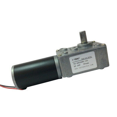 Small 24VDC 55RPM Powerful  Gear Box Motor Reversible Right Angle 5/16 in Shaft