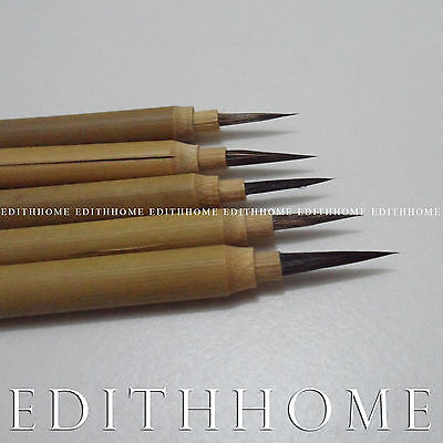 Super Fine #0-#4 Chinese Painting Brush for Sumi-e Thin Outline Rabbit Hair Set
