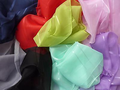 Chiffon Hair Scarf 40s 50s Rockabilly PinUp Vintage 14 Colours Red Black Mint