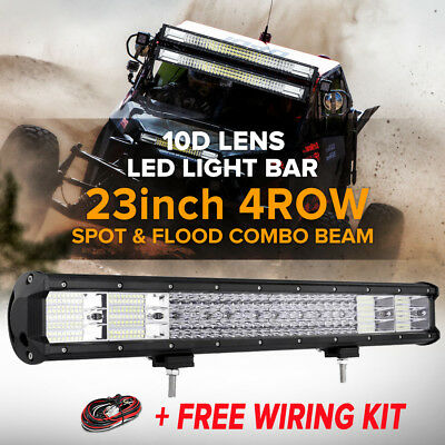 "52"" 500W Philips Led Work Light Bar Spot Flood Combo Offroad Pickup Atv 4Wd 50"""