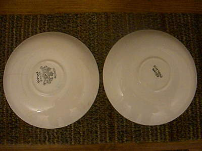 """Real English Ironstone William Adams & Sons England Set of Two 5 1/2"""" Saucers"""