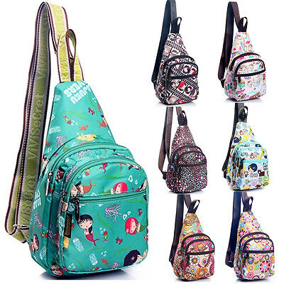 Vivisecret Women Casual Shoulder Sling Chest Bag Unbalance Backpack Bicycle Pack