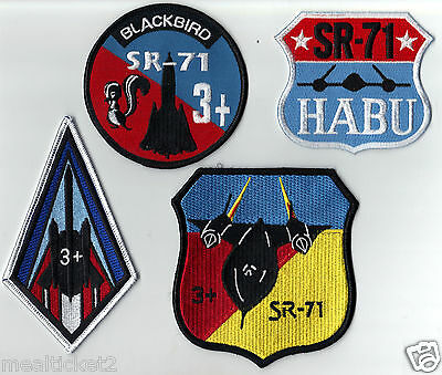 4 Original - Sr-71 Blackbird - Usaf Nro - Lockheed  - Non-Commercial -  Patches