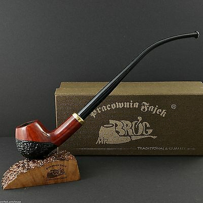 "Mr.Brog HAND MADE SMOKING PIPE - REAL BRIAR -no. 114 Churchwarden "" CONSTANCE """