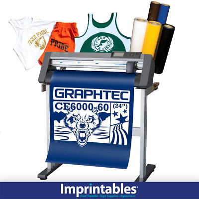 GRAPHTEC Vinyl Cutter CE6000-60 w/Stand and BONUS Heat Transfer Vinyl