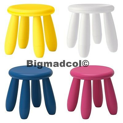 ikea 39 mammut 39 children 39 s coloured stool seat 30cm high. Black Bedroom Furniture Sets. Home Design Ideas