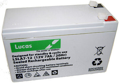12V 7ah Sealed Lead Acid | Replacement Foxing/Hunting Lamp Battery-LUCAS
