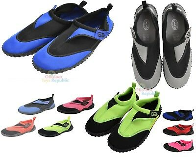 Adults Nalu Aqua Shoes Sizes 3 - 12 in 4 Colours Swimming Surfing Beach Shoes