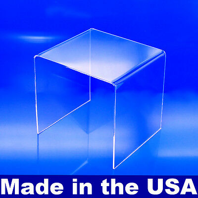 "Acrylic Display Riser 4"" x 4"" x 4"" - Made In USA Acrylic Risers"
