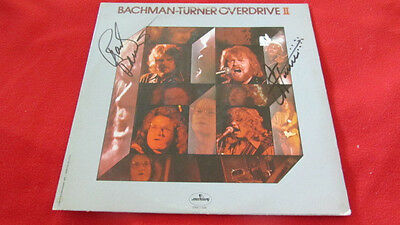 BACHMAN-TURNER OVERDRIVE II BTO GROUP SIGNED AUTOGRAPHED LP Album