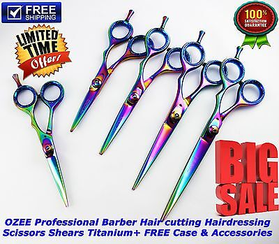 Professional Hairdressing Scissors Salon Hair Cutting Barber Shears TITANIUM/KIT
