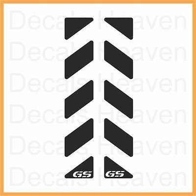 BMW R1200GS 2pcs Black Reflective Pannier Back Decal Kit Set Safety Sticker M#3
