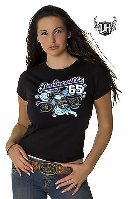 1965 Triumph Bonneville Ladies T- Shirt