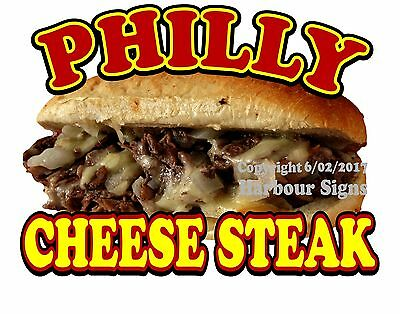 """Philly Cheese Steak Decal 14"""" Cheesesteak Sub Sandwich Concession Food Truck"""
