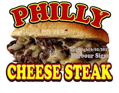 """Philly Cheese Steak Decal 14"""" Sub Sandwich Concession Food Truck Sticker"""