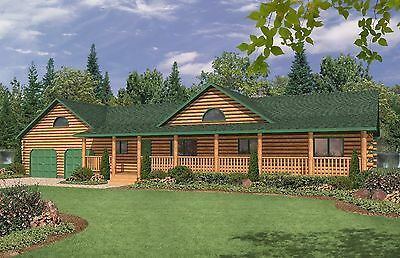 Ranch Home Plan 864 Sq. Ft. Digital PDF Floor Plan Style Open Concept Porch