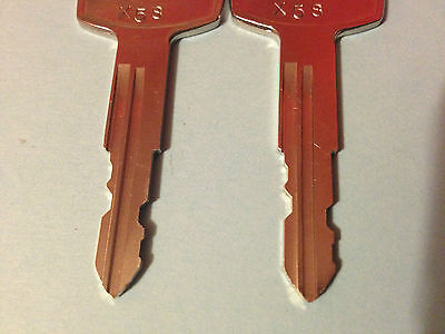 2 Sentry Safe keys for Models X041-X055-X075-X105-OR X125 Key codes X21 thru X60