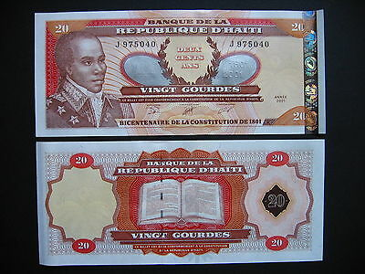 HAITI  20 Gourdes Commemorative Issue 2001  (P271Aa)  UNC