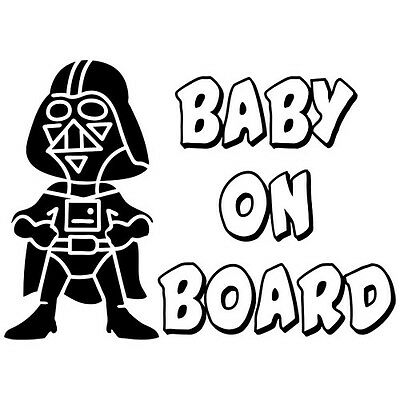 BABY ON BOARD STAR WARS DARTH VADER KIDS FAMILY VINYL DECAL STICKER (BB-2)