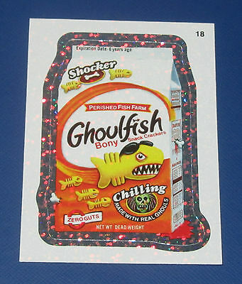 WACKY PACKAGES ANS8 SILVER FLASH FOIL #18 GHOULFISH     NM/MT