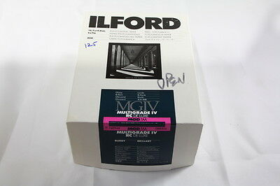 Ilford MGIV MultiGrade RC Deluxe MGD.1M Photographic Paper *Partial Box of 125*