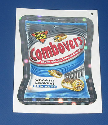 WACKY PACKAGES ANS9 SILVER FLASH FOIL #9 COMBOVERS     NM/MT
