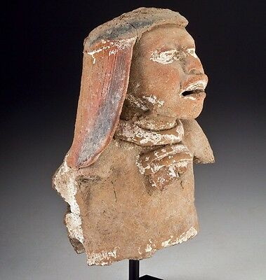 Mayan Pottery Figural Fragment 500 - 800 A.d.