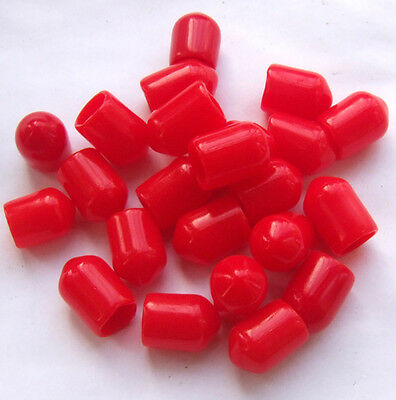 200PCS SMA Plastic Protection covers Dust cap Red for RF SMA female connector