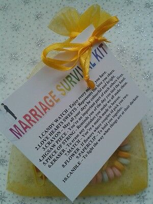MARRIAGE SURVIVAL KIT - Unusual Gift - Novelty Wedding or ...