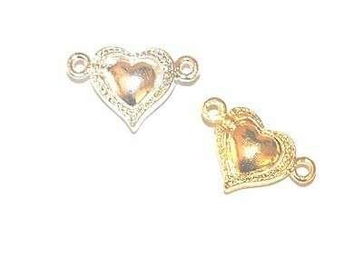 5 Silver Gold Plated Jewellery Craft Magnetic Inside Heart Clasps Clasp Findings