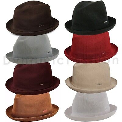 100% Authentic KANGOL Tropic Player Fedora Trilby Hat Cap 6371BC S M L XL XXL