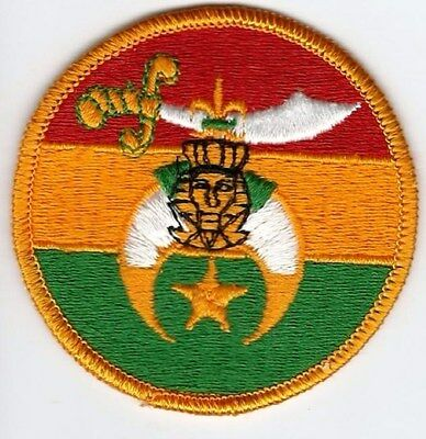 Shriner patch, 3 inch dia.